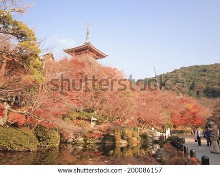 Kiyomizu Temple, Kyoto, Japan - stock photo