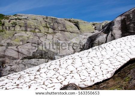 Kjerag mountain, Norway - stock photo