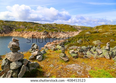 kjerag Norway lysefjord fjord stavanger - stock photo