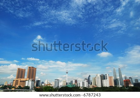 KL City View - stock photo
