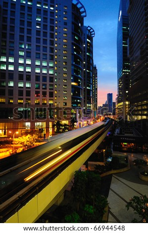 KL Sentral, the newest commercial hub in Kuala Lumpur, Malaysia - stock photo