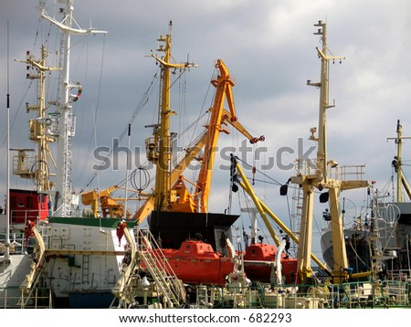 Klaipeda port - stock photo