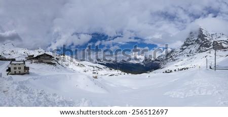 Kleine-Scheidegg Panorama - stock photo