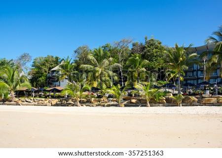Klong Muang beach in Krabi province, Thailand - stock photo