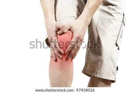 knee pain - stock photo