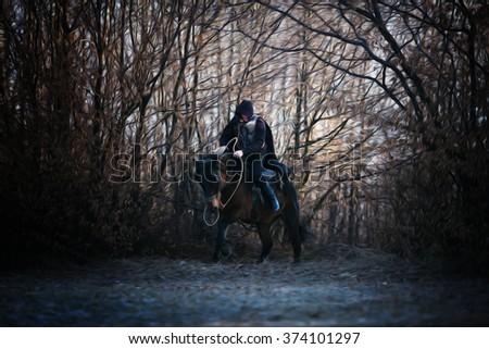 knight  - stock photo