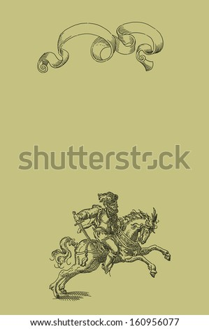 Knight illustration - stock photo