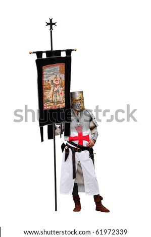 Knight Templar isolated on white background - stock photo