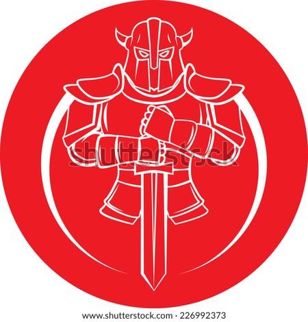 Knight Warrior - stock photo