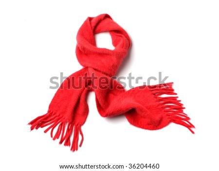 knit scarf - stock photo