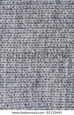 Knit woolen texture. Fabric gray background - stock photo