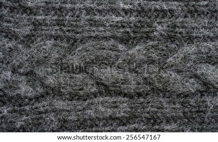 Knitted black background - stock photo