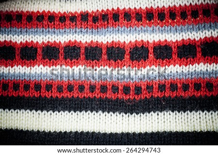 Knitted fabric texture background. - stock photo