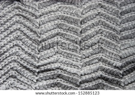 Knitted grey cloth texture - stock photo