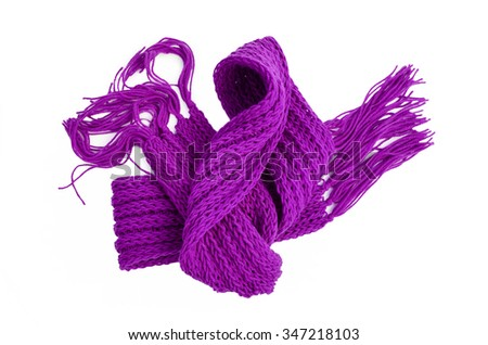 knitted scarves,Keep warm from the cold - stock photo
