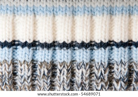 Knitted wool background - stock photo