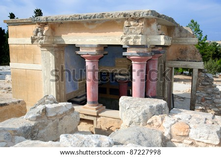 Knossos architecture, Crete, Greece - stock photo