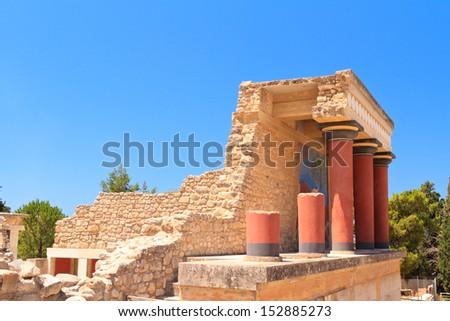 Knossos palace at Crete  - stock photo