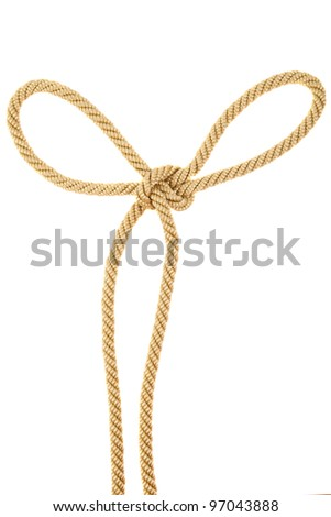 Knot on a rope isolated - stock photo