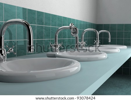 Knotted faucet - stock photo