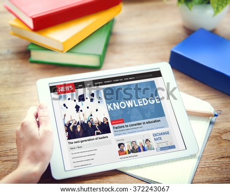 Knowledge Education News Feed Advertise Concept - stock photo