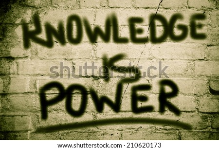 Knowledge Is Power Concept - stock photo