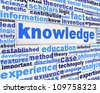 Knowledge poster design. Education message conceptual background - stock photo