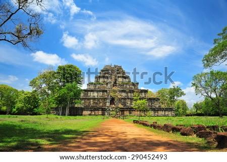 Ko Ker Pyramid of Cambodia - stock photo
