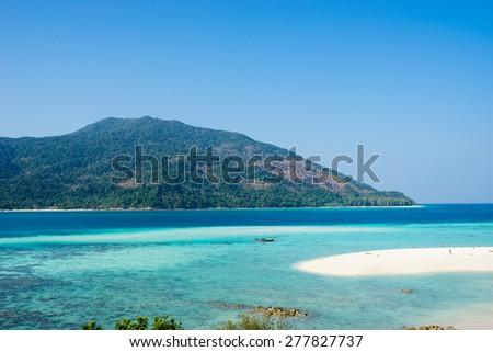 Ko Lipe tropical beach paradise in Thailand - stock photo