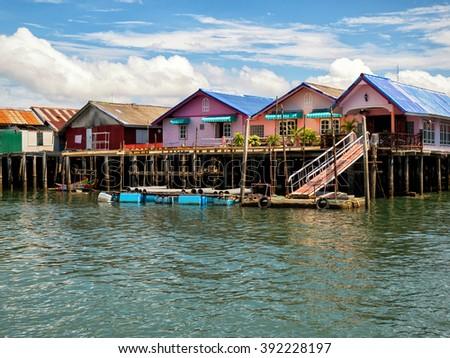 Ko Panyi, fishing village in Phang Nga Province, Thailand - stock photo