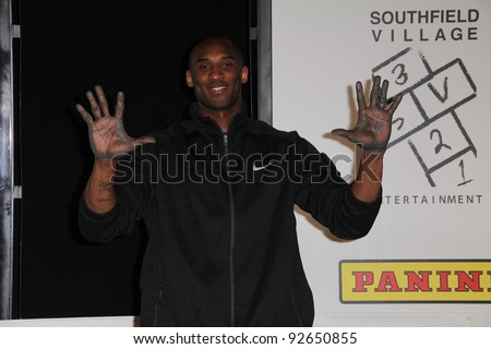 Kobe Bryant  at the Kobe Bryant Hand and Footprint Ceremony, Chinese Theater, Hollywood, CA. 02-19-11 - stock photo