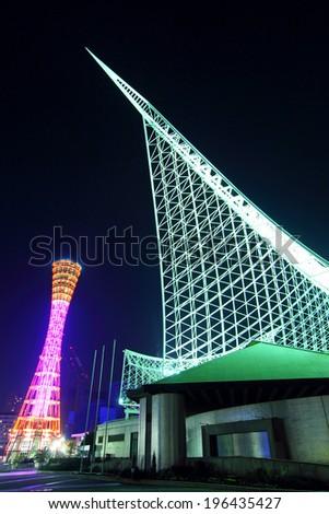 Kobe night - stock photo
