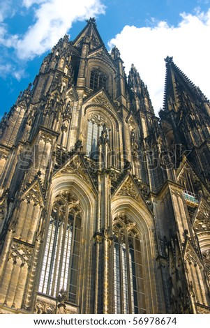 Koelner Dom (Cologne Cathedral) of Saint Peter and Mary, UNESCO World Heritage Site. Koelne (Cologne) - stock photo