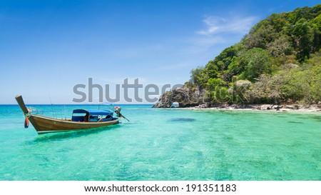 Koh Kai Famous Island Of Thailand - stock photo