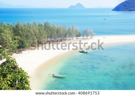 Koh Kam Tok Ranong, Thailand - stock photo