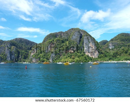 Koh Phi Phi Island Thailand - stock photo