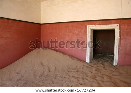 Kolmanskop Ghost Town, Namibia - stock photo