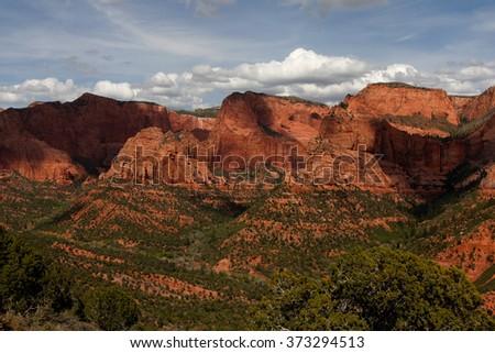 Kolob Canyon, Zion National Park - stock photo