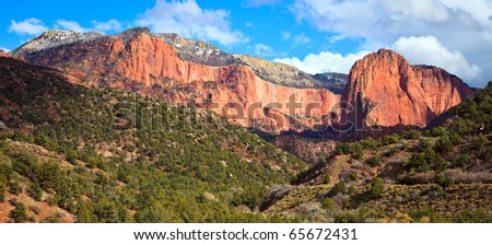 Kolob Finger Canyons panorama in Zion Canyon National Park, Utah - stock photo