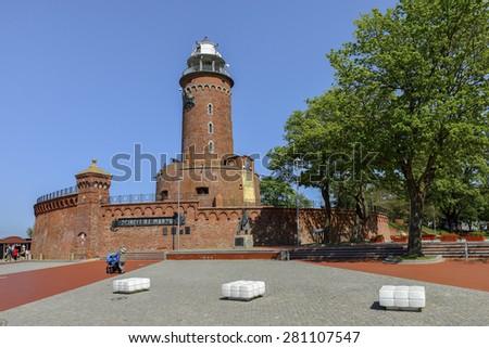 Kolobrzeg, Poland, The lighthouse, Landscape - stock photo