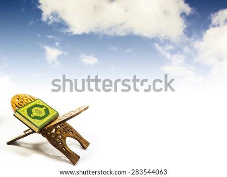 koran with  sky - stock photo