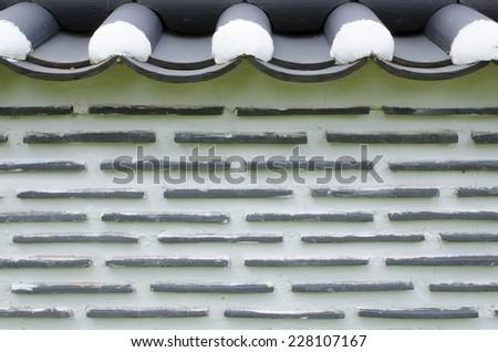 Korea fence wall background - stock photo