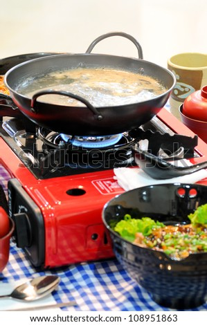 Korea food ,preparing for customer - stock photo