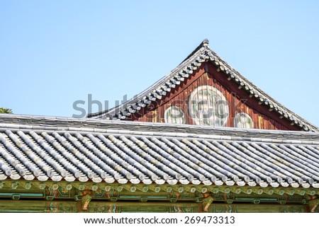 korea temple - stock photo