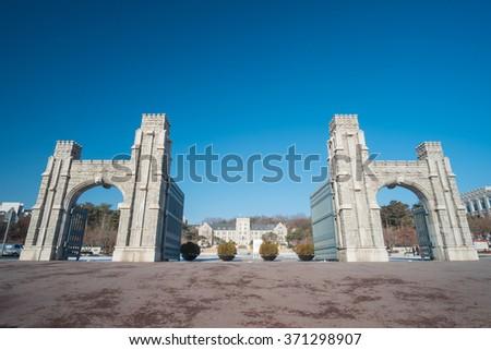 Korea University  Seoul, South Korea. - stock photo
