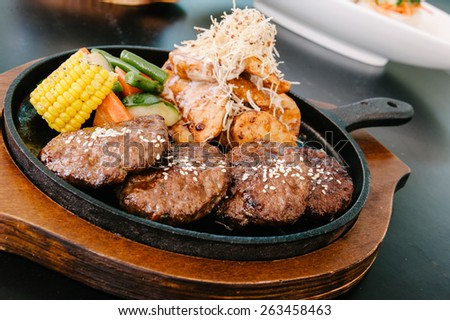 korean bbq - stock photo