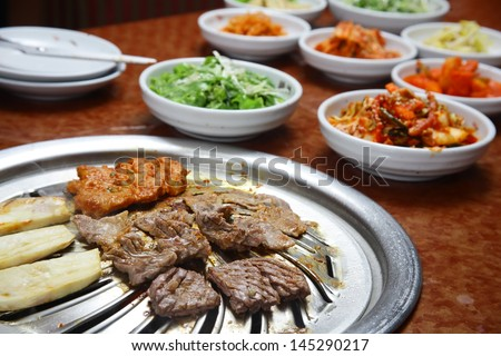 Korean cuisine : barbecue grill - stock photo