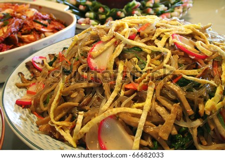 Korean Food. Jabche - stock photo
