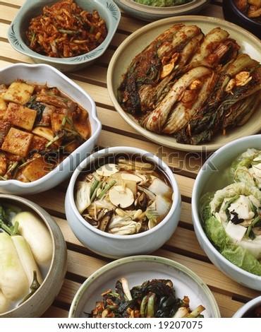 Korean Food Kimchi - stock photo