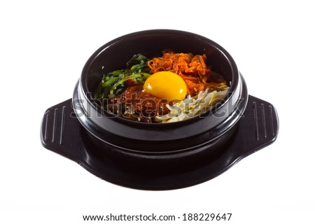 Korean food, Mixed Rice Bibimbab  - stock photo